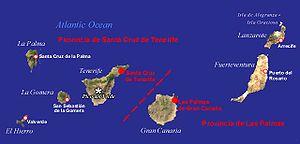 kanarska ostrva mapa Kanarska ostrva   Wikipedia kanarska ostrva mapa