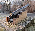 Cannon 12 pound manufactured at Moss Ironworks in Norway, view from right.jpg