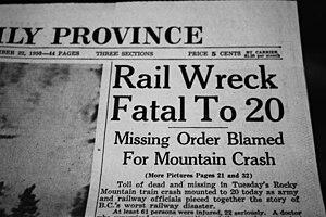English: Photo of newspaper headline related t...