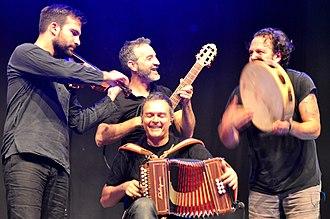 Canzoniere Grecanico Salentino - Canzoniere Grecanico Salentino performing 2015 at the Horizonte music festival in Koblenz, Ehrenbreitstein Fortress
