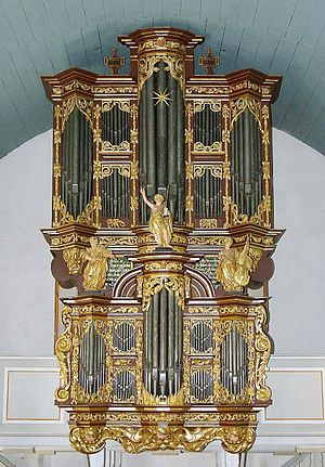 Cappel, Lower Saxony - Ss.Peter and Paul Church: The pipe organ of 1680 by Arp Schnitger.