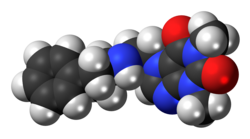 Space-filling model of the captagon molecule