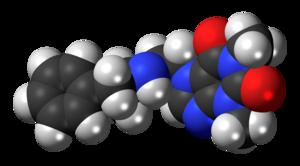 Fenethylline - Image: Captagon molecule spacefill