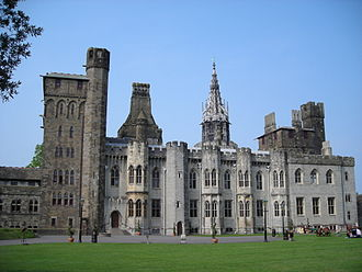 Henry Holland (architect) - Cardiff Castle (Holland's work is the pale coloured stone)