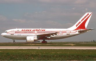 Air India - Air India Airbus A310-300. It sold three A300s in March 2009 due to debts