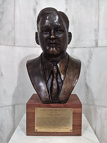 Carl Bailey bust in the Arkansas state capitol.jpg