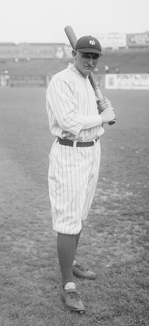 Carl Mays - Mays in a batting stance at the Polo Grounds some time during 1919-22.