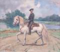 Carlos Relvas monta o cavalo Pérola em Alverca do Campo, Golegã (1890) - José Malhoa (Casa dos Patudos - Museu de Alpiarça, Inv. Nº 84.37).png