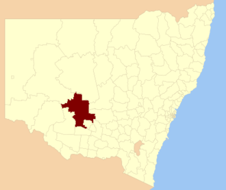 Carrathool Shire - Location in New South Wales