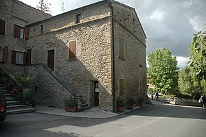 birthplace of Benito Mussolini in Predappio, t...