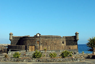 Santa Cruz de Tenerife - Castle of St John the Baptist, also known as Castillo Negro