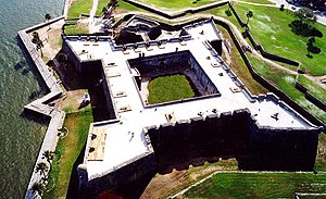 Battle of Bloody Marsh - Castillo de San Marcos - St. Augustine. Stronghold of Manuel de Montiano
