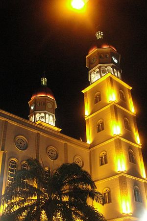 Cathedral of Our Lady of Mount Carmel, Maturín - nocturnal view