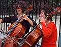 Cello players outside Notre Dame in Paris, France.jpg
