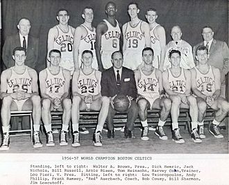 History of the Boston Celtics - The 1956–57 team that won the first championship for the franchise.