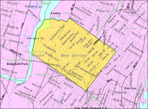 Palisades Park, New Jersey - Image: Census Bureau map of Palisades Park, New Jersey