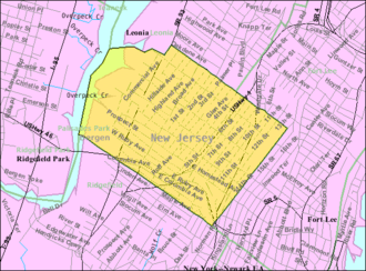 Palisades Park, New Jersey - Image: Census Bureau map of Palisades Park, New Jersey