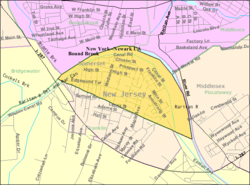 Census Bureau map of South Bound Brook, New Jersey