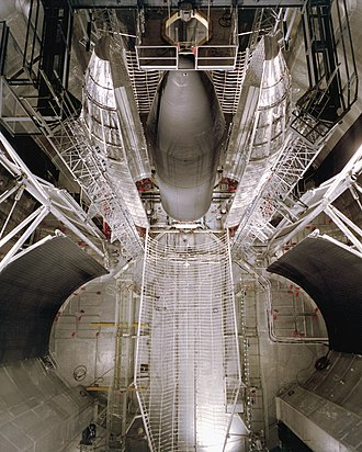 Space Power Facility - Image: Centaur Standard Shroud at SPF Plum Brook GPN 2000 001464