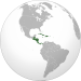 Central America and the Caribbean (orthographic projection).svg
