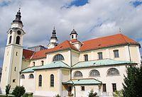 Cerkev sv. Petra, Ljubljana-Center, skozi okno Inštituta za biofiziko.jpg