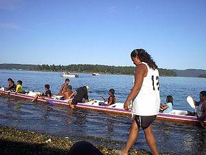 Penelakut Island - Image: Cermonial Canoe Races, 2006, Kuper Island