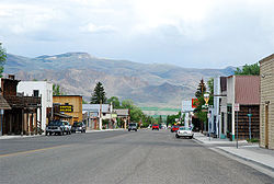 Main Street in Challis, May 2007