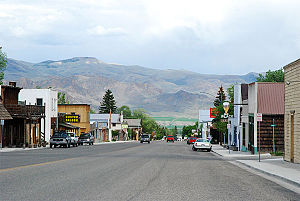 Challis, Idaho - Main Street in Challis, May 2007