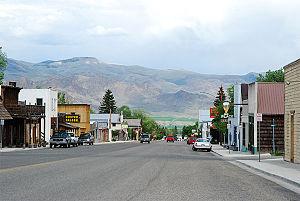 Challis, Idaho - Main Street in Challis, May 2007