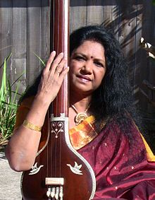 Chandrakantha Courtney with tanpura