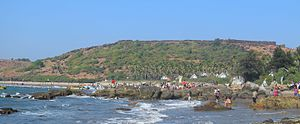 Chapora Fort - A view of Chapora Fort from Vagator Beach