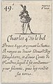 Charles 4.e- dit le bel - Prince sage..., from 'Game of the Kings of France' (Jeu des Rois de France) MET DP831122.jpg