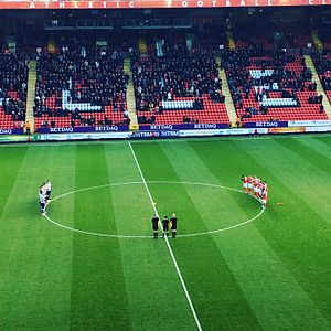 Charlton Athletic F.C. - Charlton and Millwall pay tribute to Graham Taylor at The Valley in January, 2017.