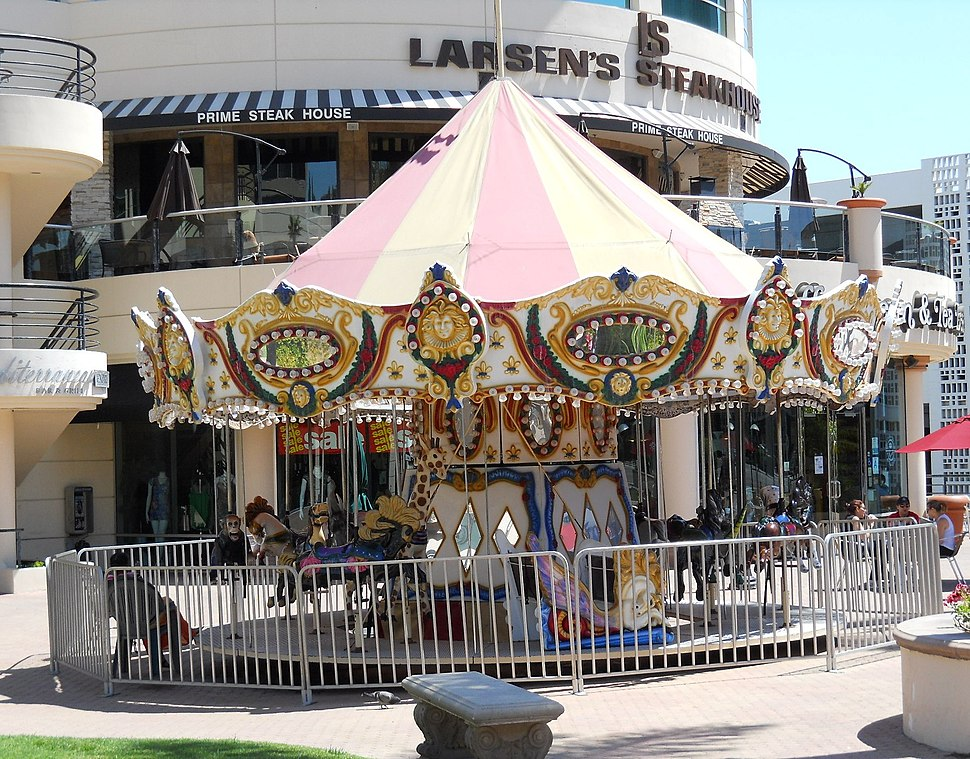 Children%27s Carousel at Encino Place, Los Angeles