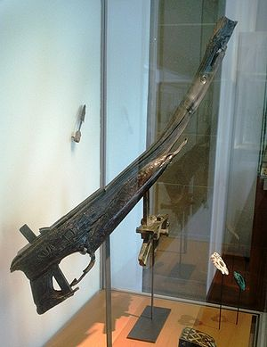 History of science and technology in China - Remains of a Chinese crossbow, 2nd century BC.