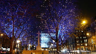 Sloane Square - Christmas lights in Sloane Square.