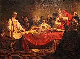 Christopher Columbus Before the Council of Salamanca