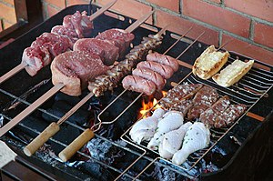 Photo of a Churrasco (brazilian barbecue), as ...