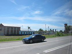 M52 Highway in the settlement of Chuysky in Biysky District