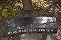 Cimetière Mont-Royal - Banc Marcelle Ferron.jpg