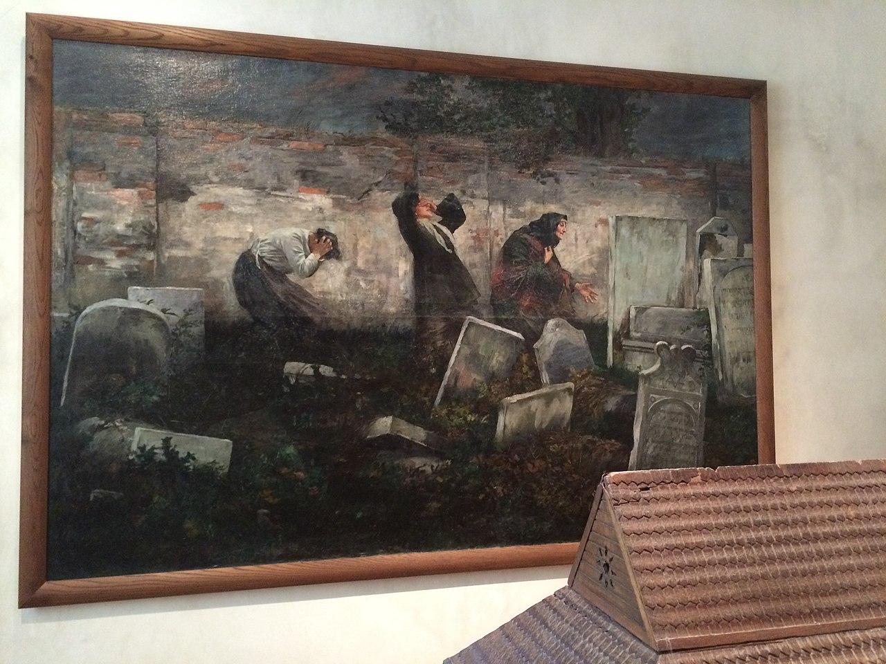 file cimeti re juif tableau de samuel hirszenberg lodz 1892 jpg wikipedia. Black Bedroom Furniture Sets. Home Design Ideas