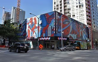 Seattle Cinerama - The theater's exterior after its latest renovation in 2014