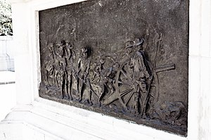 Battle of Elandslaagte - Memorial plaque commemorating the Natal Field Artillery's participation in the battle