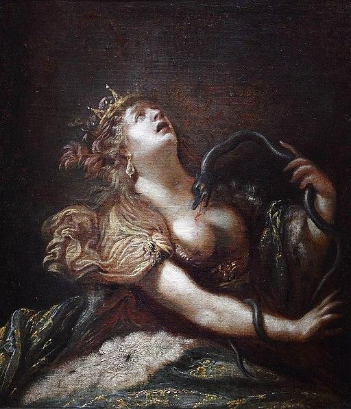 Cléopâtre se donnant la mort