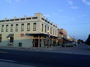 Clifton, Texas - West side of Avenue D viewed from Farm to Market Road 219