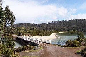 Cockle Creek (Tasmania) - Sea inlet in Cockle Creek