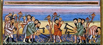 Codex Aureus of Echternach - Labourers in the vineyard