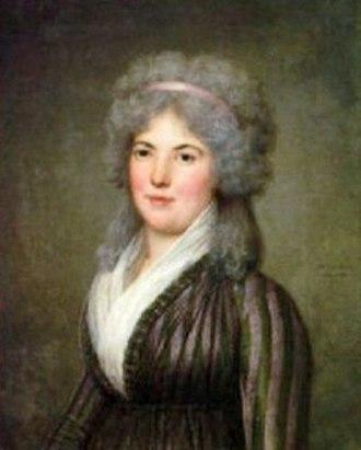 Aimée de Coigny - Aimée around 1797 by Adolf Ulrik Wertmüller