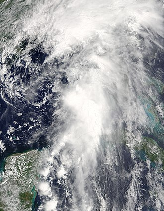 2016 Atlantic hurricane season - Image: Colin 2016 06 06 1620Z