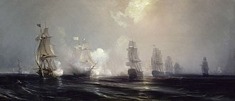 Naval battles of the American Revolutionary War - Image: Combat naval devant la Chesapeake, 3 septembre 1781